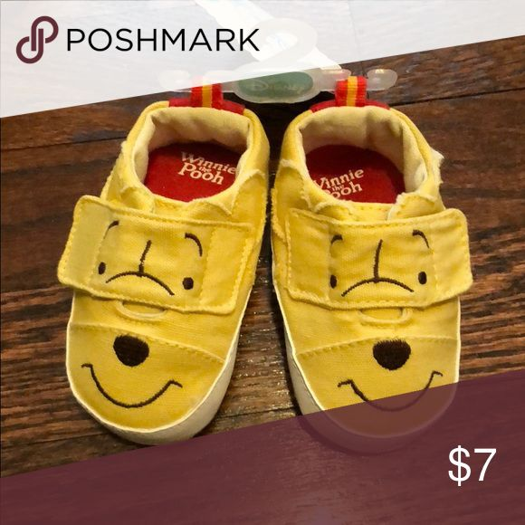 🆕NEW DIsney Winnie the Pooh baby shoes NEW Disney Winnie the Pooh baby shoes - size 3 (6-9 months) Disney Shoes Baby & Walker