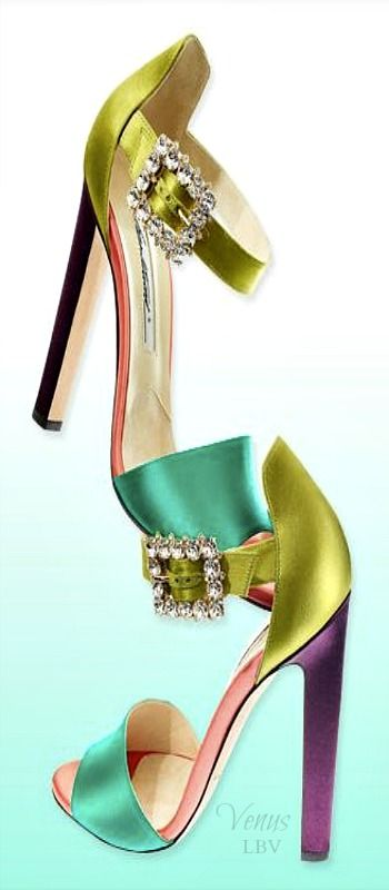 COLORFUL SATIN SANDALS