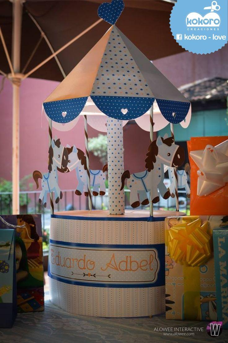 CENTRO DE MESA BABY SHOWER ♥ www.facebook.com/kokorocreaciones