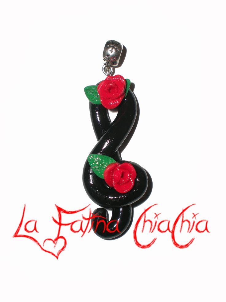Chiave di Violino Nera - #Fimo
