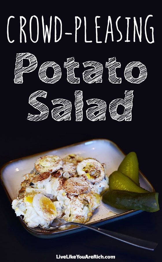For over 30 years my grandma and grandpa have been bringing this totally-amazing-potato-salad to most family events and parties. We all LOVE it! It's made of real ingredients and is healthy. #LiveLikeYouAreRich