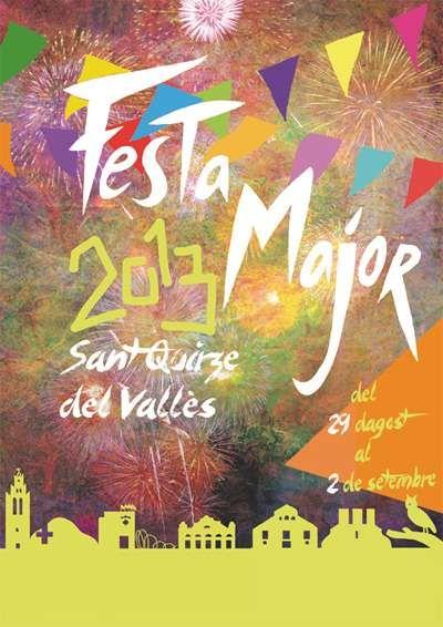 Cartell guanyador de la Festa Major de Sant Quirze del Vallès 2013, obra de Paula Bito #SQVdeFesta