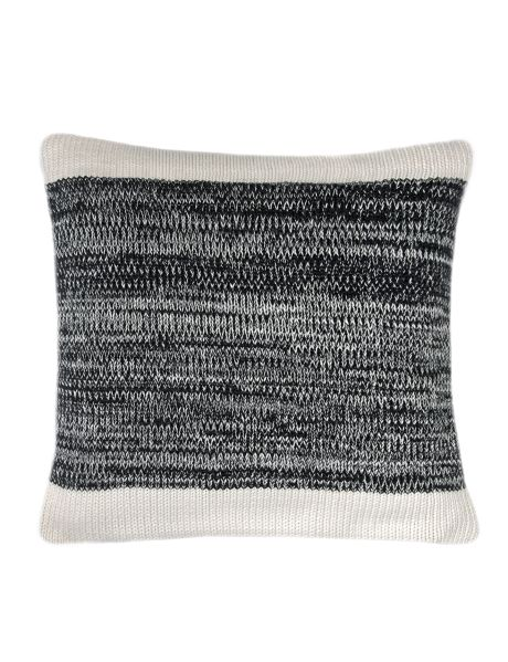 Channel modern simplicity with the two-tone Marle cotton knit square cushion. The centre panel features black and white flecked yarn, inspired by fine textiles.