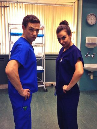 Michael Thomson and Camilla Arfwedson on Holby City | From Chizzy's Twitter Feed