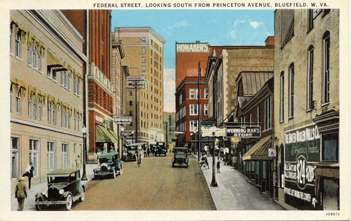 Living in Bluefield, West Virginia - WVLIVING.COM... way before my time, though most of the buildings are the same . .