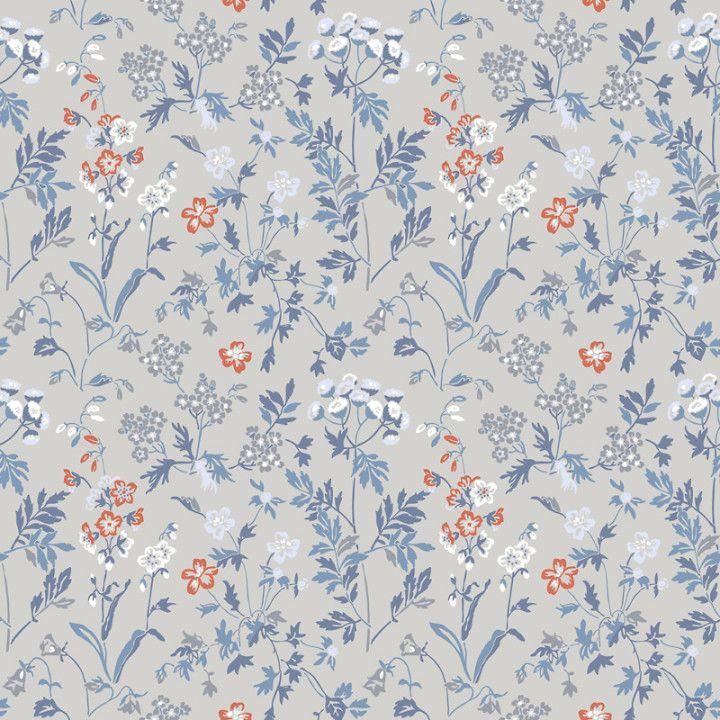 TAPET DURO JUNI BLÅ 378-03 - Blommiga tapeter - Tapeter - Färg & Tapet
