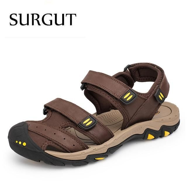 Breathable Men Sandals Brand Genuine Leather