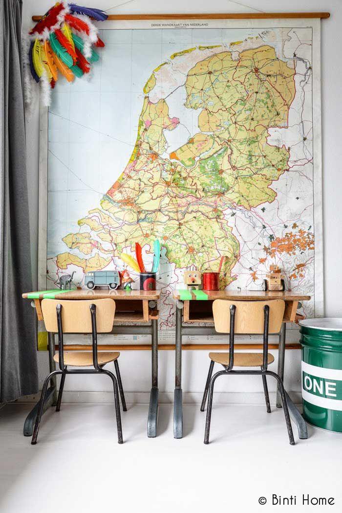 Schoolkaart Nederland kinderkamer
