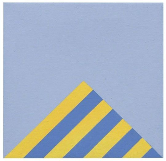Winfred Gaul  -   Striped edge V, 1970,    Polyvinyl acetate on canvas