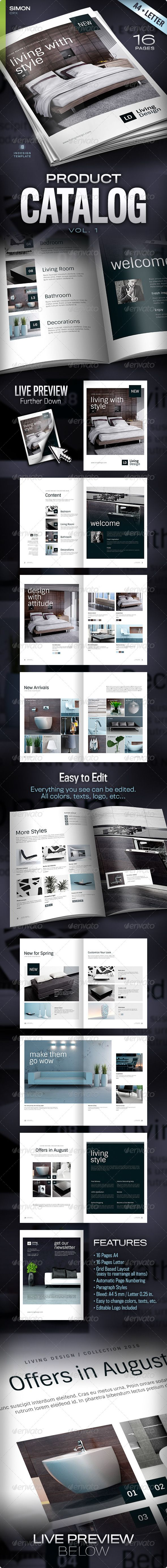 Professional, clean and modern 16 page InDesign product catalog or brochure template • Only available here ➝ http://graphicriver.net/item/product-catalog-vol-1/4638512?ref=pxcr
