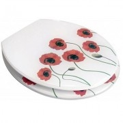 The Euroshowers Poppies Novelty Toilet Seat is a high quality toilet seat that has been designed to fit UK toilet pans. More information on the Euroshowers Poppies Novelty Toilet Seat will appear here shortly. In the meantime, please consult the Specification tab. It will provide you with all the details we hold on the seat.