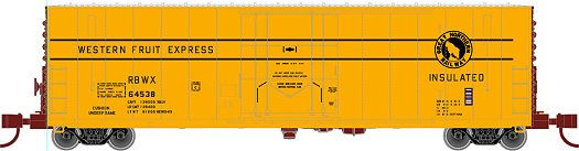 Wheels of Time N Scale 50' Pacific Car and Foundry Insulated Box Cars at BLW.