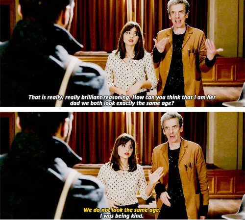 The Twelfth Doctor and Clara.: