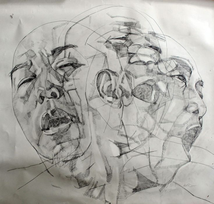 Simon Birch... Figure drawing project  Show movement of figure in 3 overlapping drawings