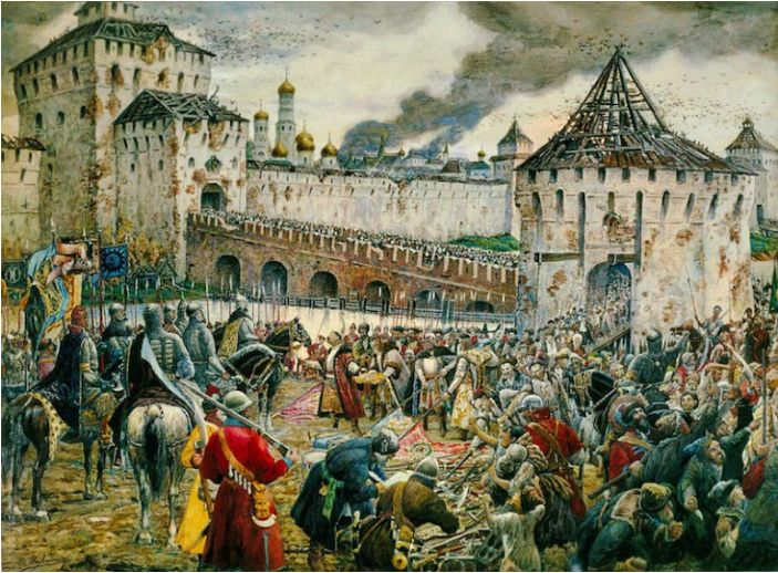Ernest Lissner, The Poles surrender the Moscow Kremlin to Prince Pozharsky in 1612; source: CC BY-SA 3.0 / Wikimedia