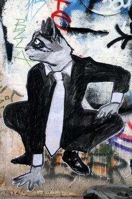 Cat, Street Art, Paris