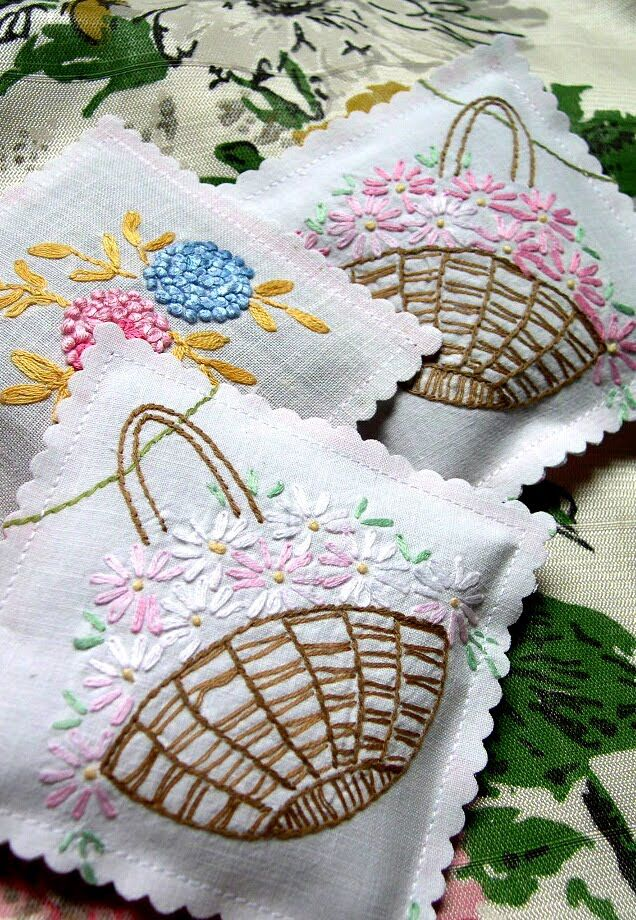 Into Vintage: sashaying around - She uses vintage linens for sachets, no tutorial, inspiration only