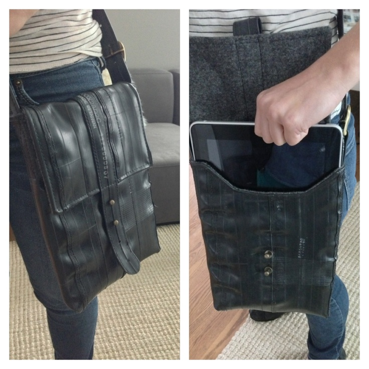 New Prototype: The Benson shoulder case. Inspired by vintage military map cases. Available soon.
