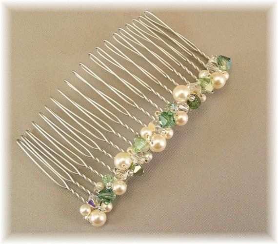 Wedding Hair Accessories Clover Green Bridal by BridalDiamantes, $29.00