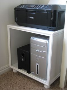 repurposed table for printer stand - Google Search