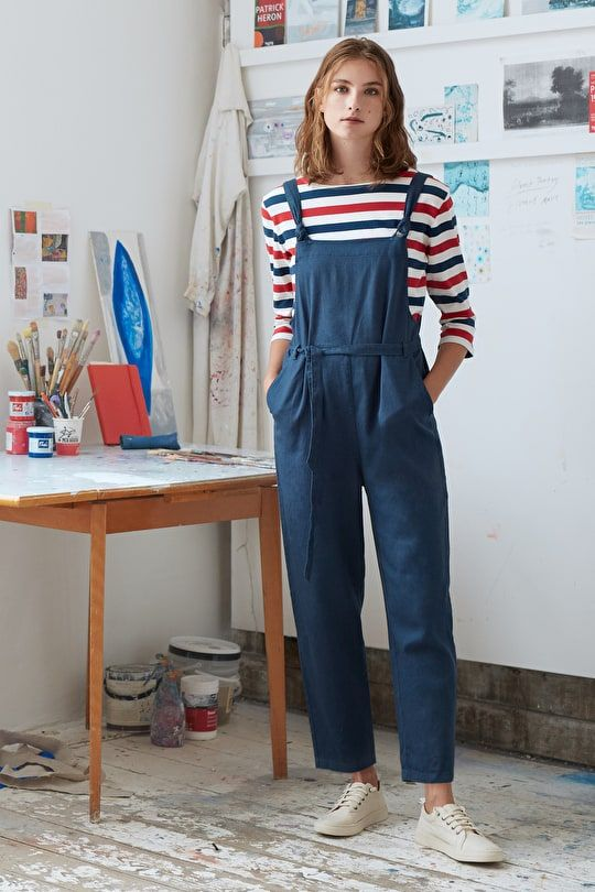 e810693502c27 Pednvounder Dungarees, Relaxed Cotton Linen Twill Dungarees - Seasalt  Cornwall