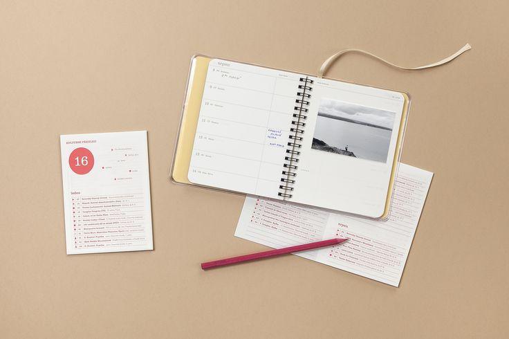 diář s kulturním přehledem / papelote - nové české papírnictví new czech stationery, Prague diary, journal, planner