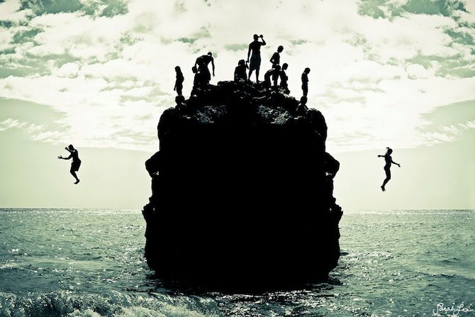 Cliff jumpingWaimea Bay, Cliff Jumping, Young Wild Free, The Edging, The Ocean, Summer, Leap Of Faith, Places, The Buckets Lists