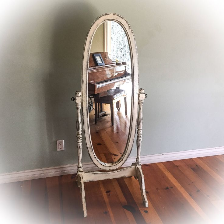 Antique, Cheval Mirror, shabby chic, dressing mirror, full length mirror, distressed, white, mirror, French country, bedroom mirror, vintage, standing mirror, French provincial, shabby chic mirror, https://www.etsy.com/listing/524922017/antique-dressing-mirror-shabby-chic-full