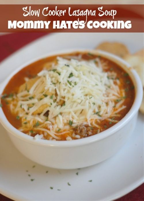 Slow Cooker Lasagna Soup | Soups and Slow Cookers:) | Pinterest