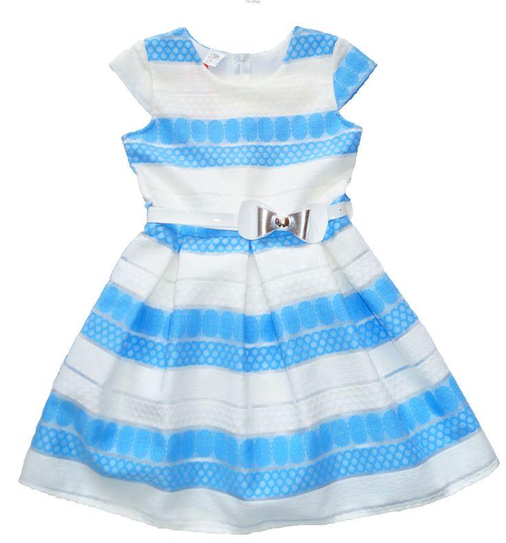 Sukienka niebieski pasek-dziewczynka