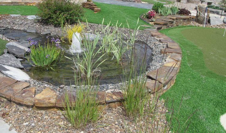 64 best unique garden landscaping images on pinterest for Artificial pond in garden
