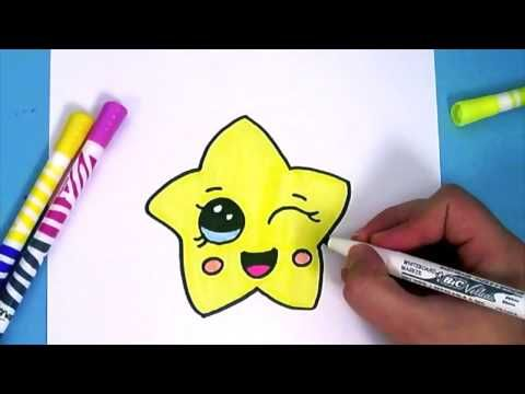 Comment dessiner une etoile kawaii dessin facile youtube pinterest youtube and - Animaux facile a dessiner ...
