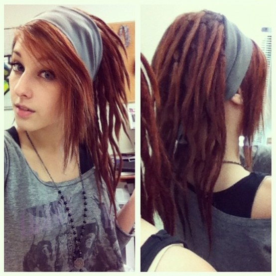 Dreads and bangs