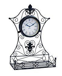 Deco 79 35422 Metal Outdoor Clock, 16 by 23-Inch