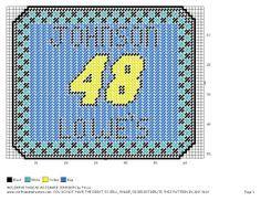 Jimmy Johnson plastic canvas keychain pattern | JOHNSON MOUSEPAD