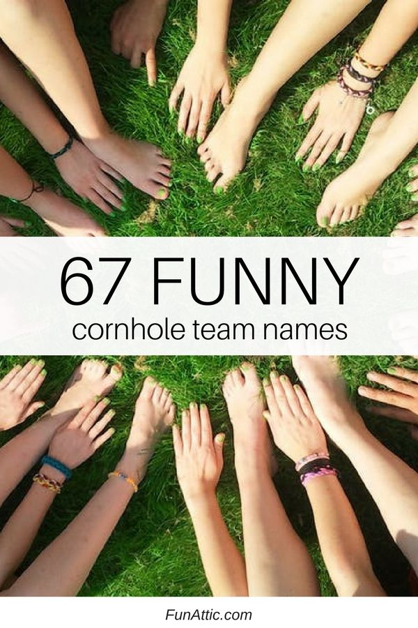 Deciding on a team name is a bonding experience! Here's our list of 67 funny cornhole team names that are funny, clever and more.