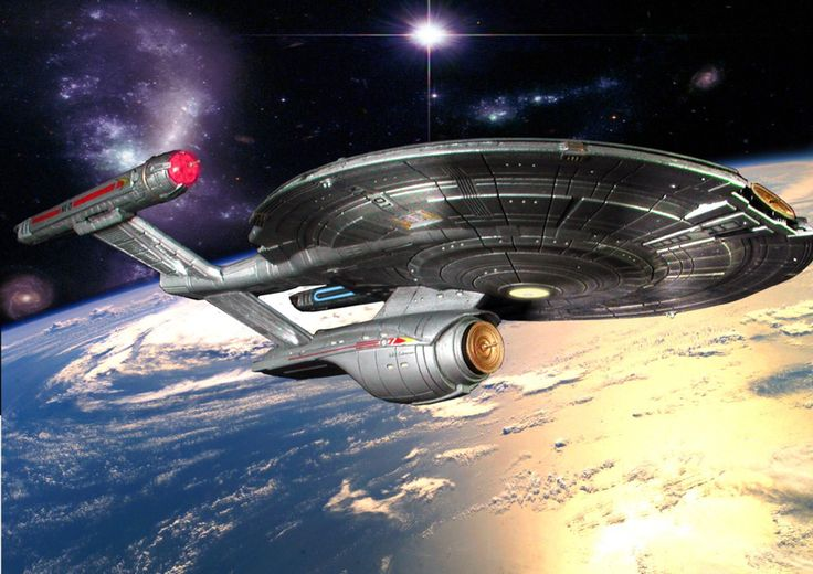 The Enterprise as she could have appeared in season 5 of the series if it had been able to continue.