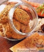 Фото к рецепту: Морковно-овсяное печенье с орехами и шоколадом