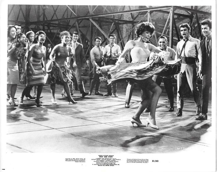 "WEST SIDE STORY Orig Black/White Still ""America"" Rita Moreno George Chakiris"