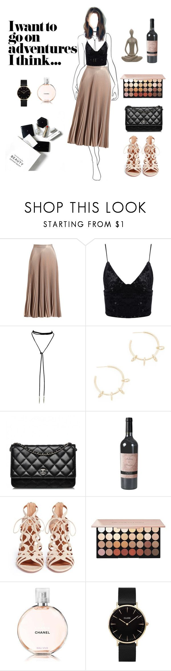 """adventure "" by andreeapetre4 on Polyvore featuring H&M, A.L.C., Justine Clenquet, Chanel, Aquazzura and CLUSE"