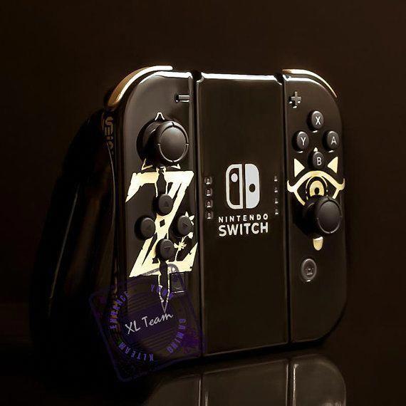 Custom The Legend of Zelda Breath of the Wild Themed Nintendo Switch