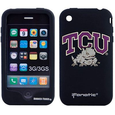 TCU Horned Frogs Black Silicone 3G/3GS iPhone Case