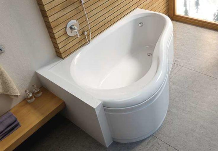 Ergonomiczna, asymetryczna wanna o opływowych kształtach zapewnia wygodną kąpiel. Akrylowa powłoka długo zachowuje temperaturę wody i jest wytrzymała na uszkodzenia i odbarwienia. / Wanna Solo marki Aquaform
