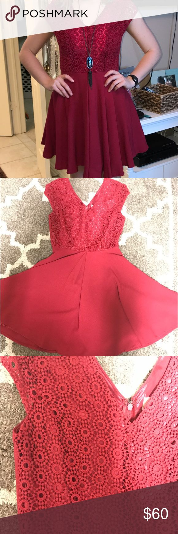 Red formal dress from Altar'd State. Worn once to a sorority recruitment! Super flattering on. Altar'd State Dresses Mini