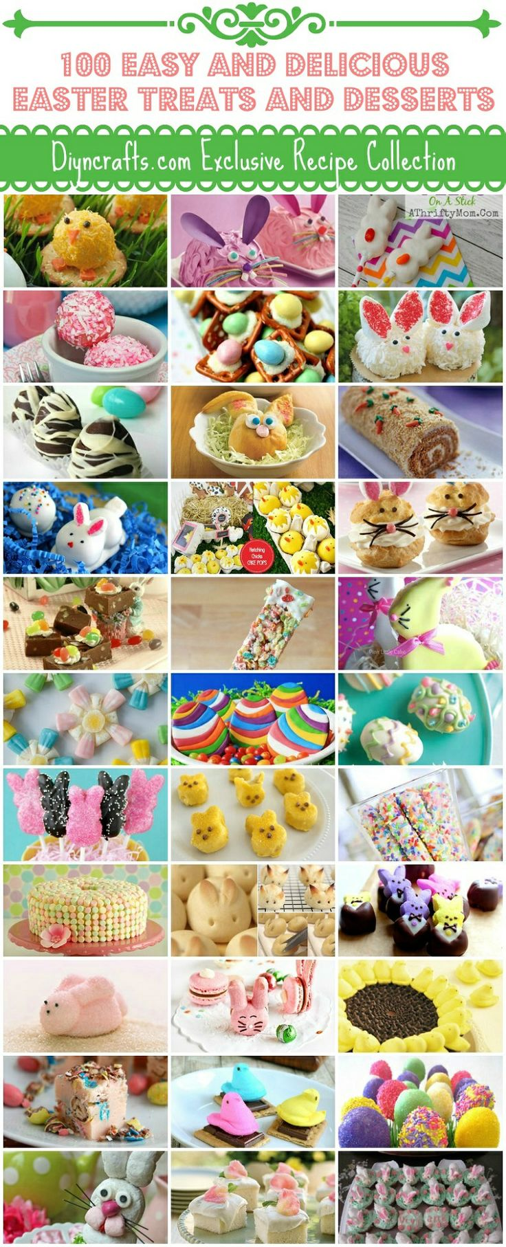 100 Easy and Delicious Easter Treats and Desserts-- This is the ultimate Easter Treats list. | DIY & Crafts | diyncrafts.com