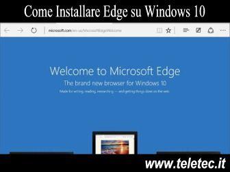 Come Reinstallare Microsft Edge su Windows 10
