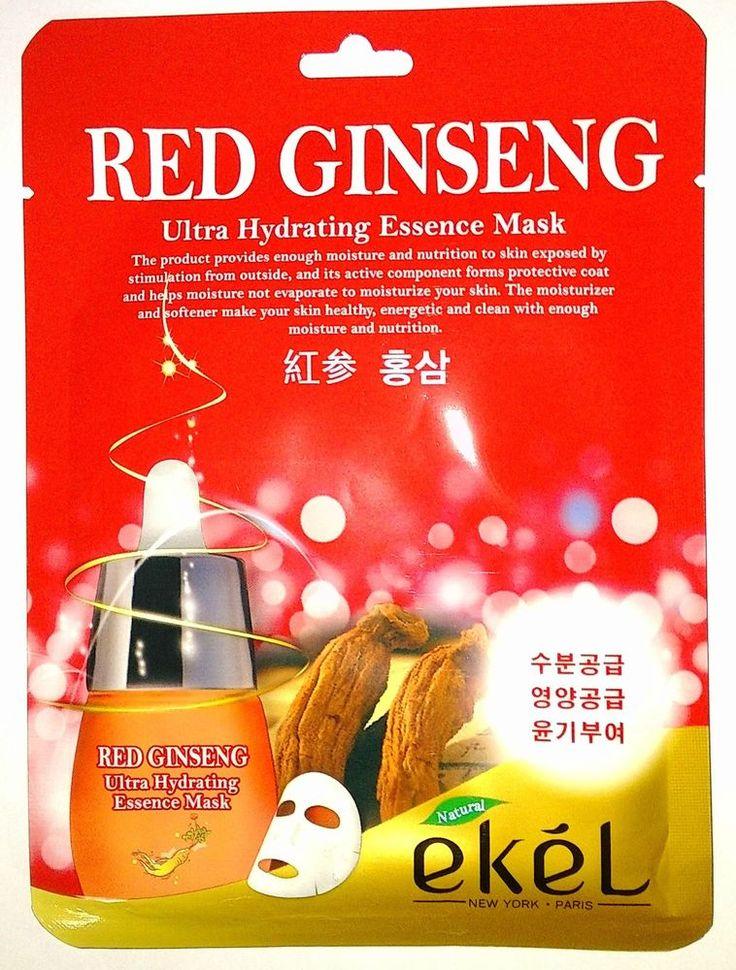 Ekel Red Ginseng Ultra Hydrating Essence Mask Pack K-Beauty 1pcs #EKEL