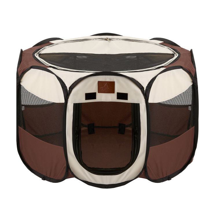 Parkland Pet Portable Foldable Playpen Exercise Kennel Dogs Cats Indoor/outdoor Removable Mesh Shade Cover Medium