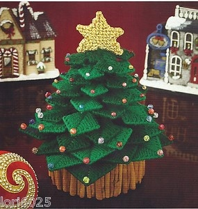 **TABLETOP CHRISTMAS TREE-BASE IS CINNAMON STICKS**PLASTIC CANVAS PATTERN**