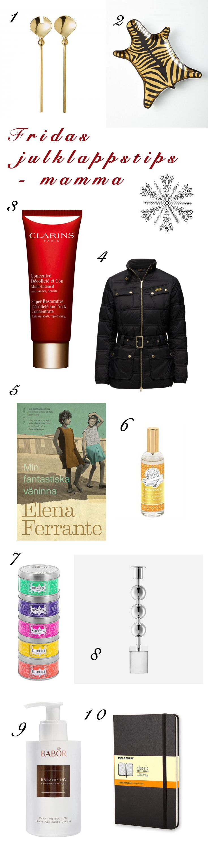Ultimata guiden till julklappstips för mamman.Christmaspresent for your mum. Läs mer på bloggen för inköpsställen m.m  www.fridagsvensson.se
